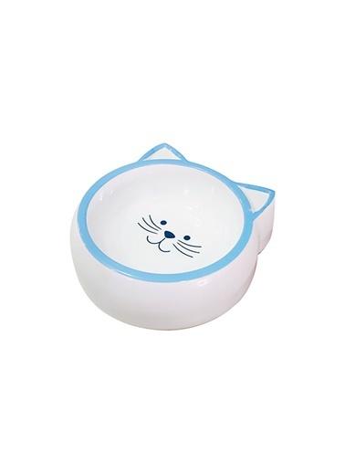 JBL Melamin Mama Kabı Kedi Suratı Şeklinde Mavi 210 Ml Renkli